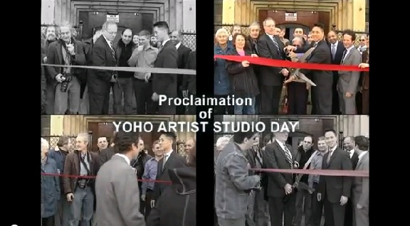 Mayor's Ribbon Cutting; YOHO Artists Day Proclaimation